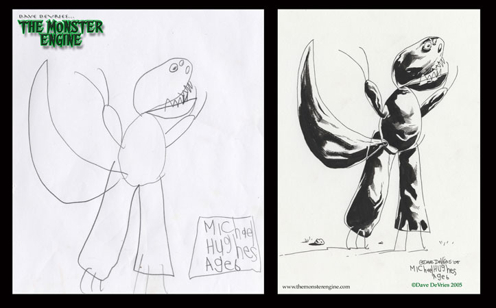Fikir çocuklardan gerisi ressamdan Dino_inks