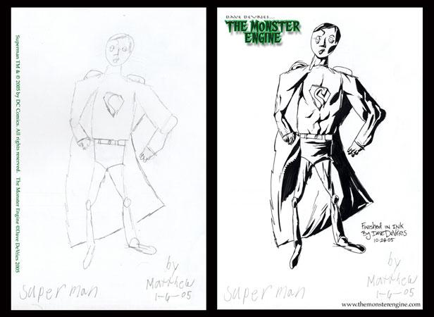 Fikir çocuklardan gerisi ressamdan Superman_inks
