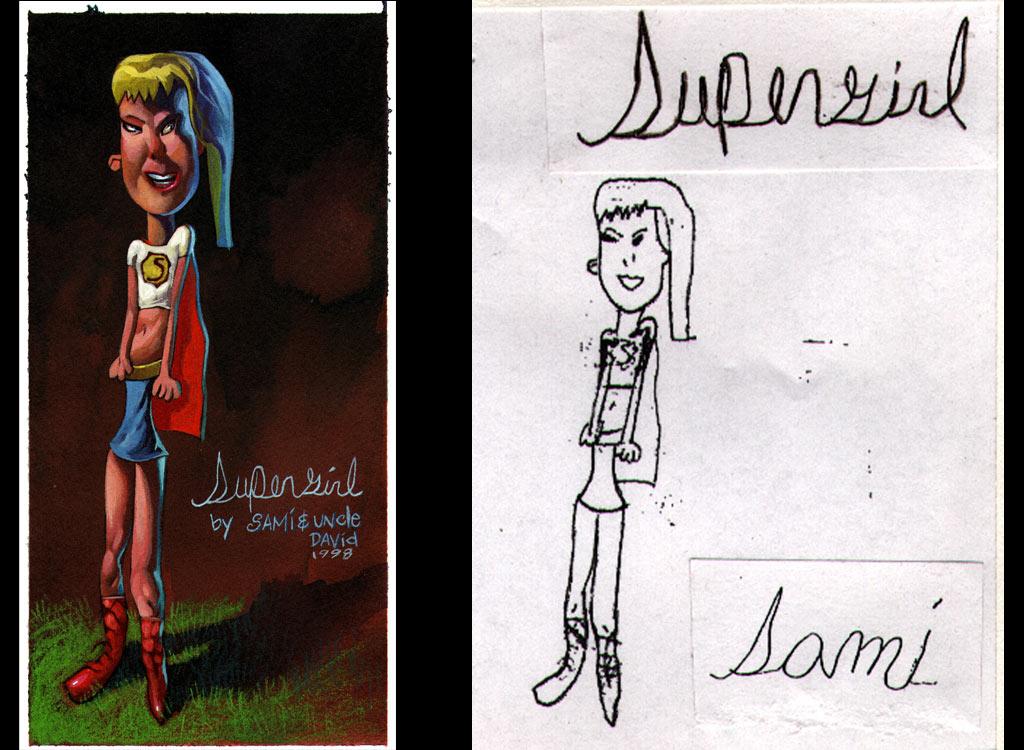 Fikir çocuklardan gerisi ressamdan Supergirl