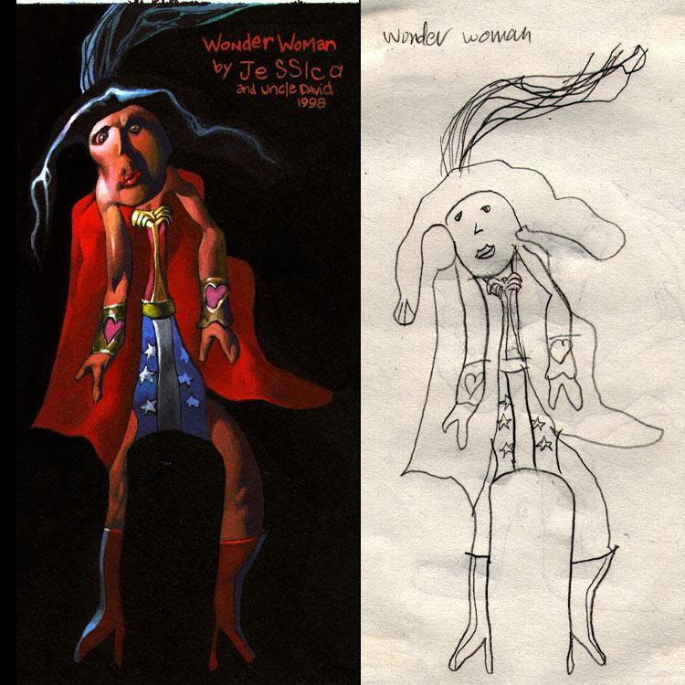 Fikir çocuklardan gerisi ressamdan Wonderwoman